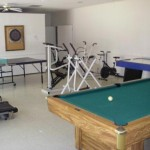 Pool Table in Exercise Room