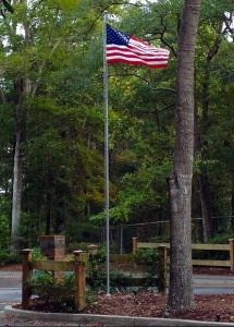 Flag at WJV Entrance